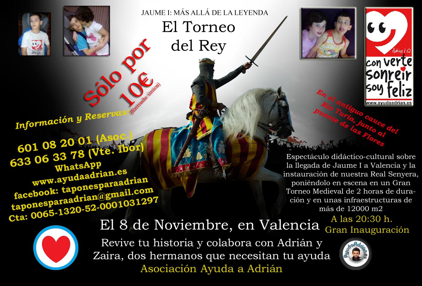 Colabora con Adrián el día 8 de Noviembre, en Valencia